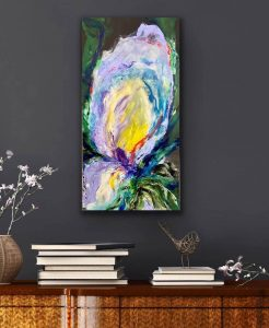 The Turquoise Iris Journal Iris of the Island 2021 Painting Staged