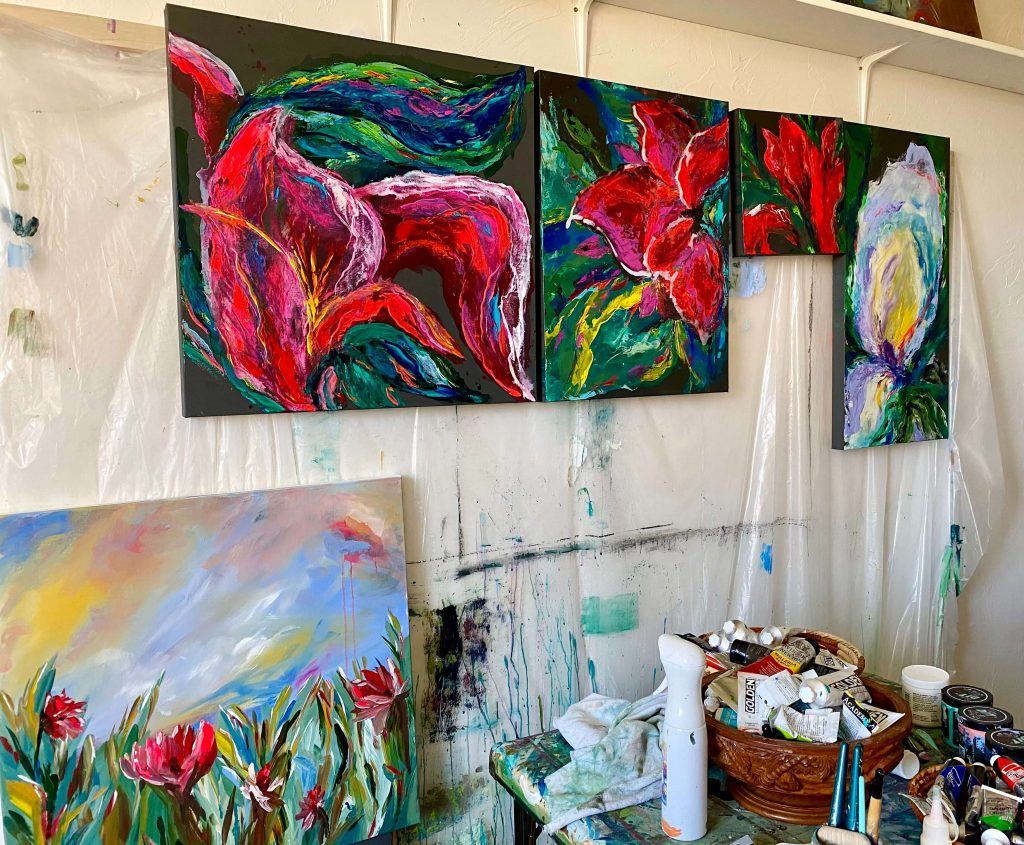 The Turquoise Iris Journal Summer Art Series Studio Canvas