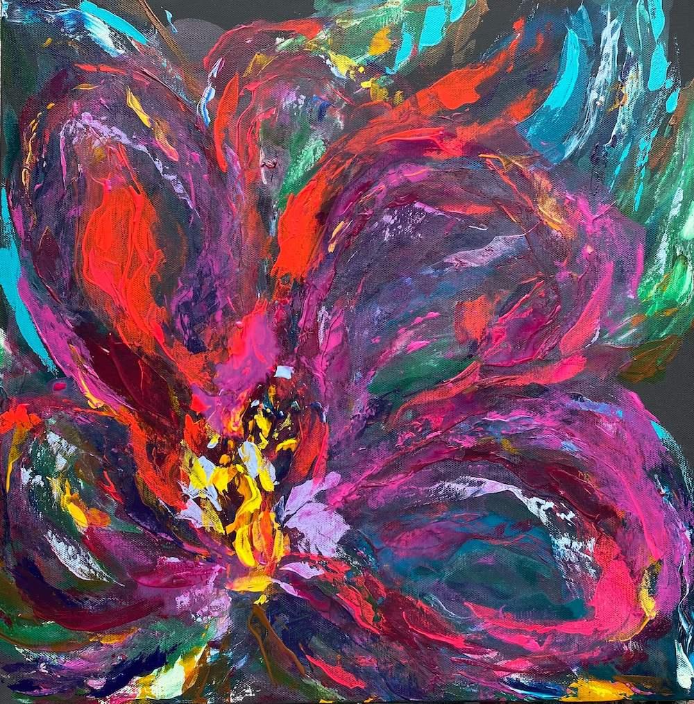 The Turquoise Iris Journal Tahitian Passion Flower 2021 Painting